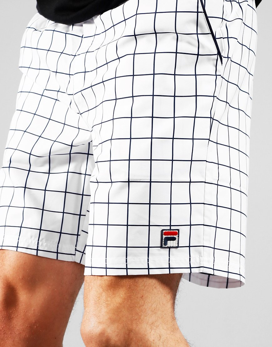 FILA Vintage Windowpane Shorts White