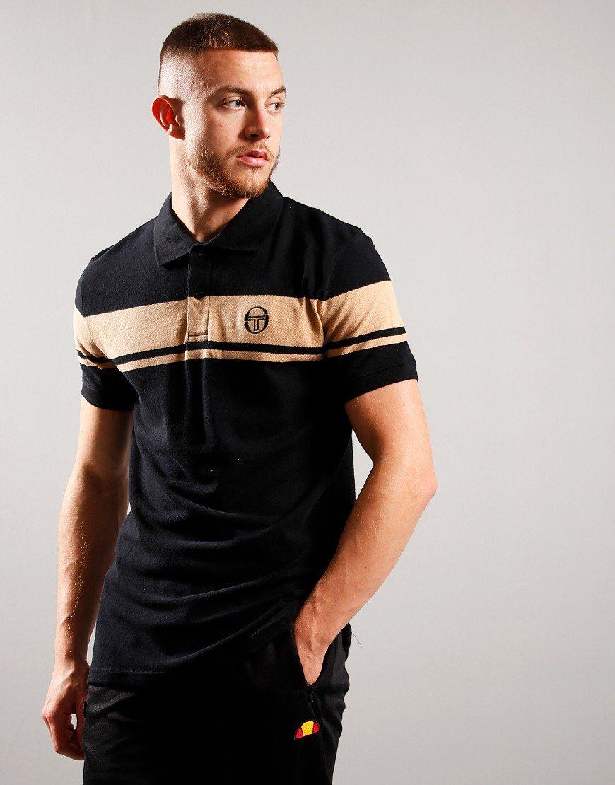 Sergio Tacchini Young Line Polo Shirt Black/Doe