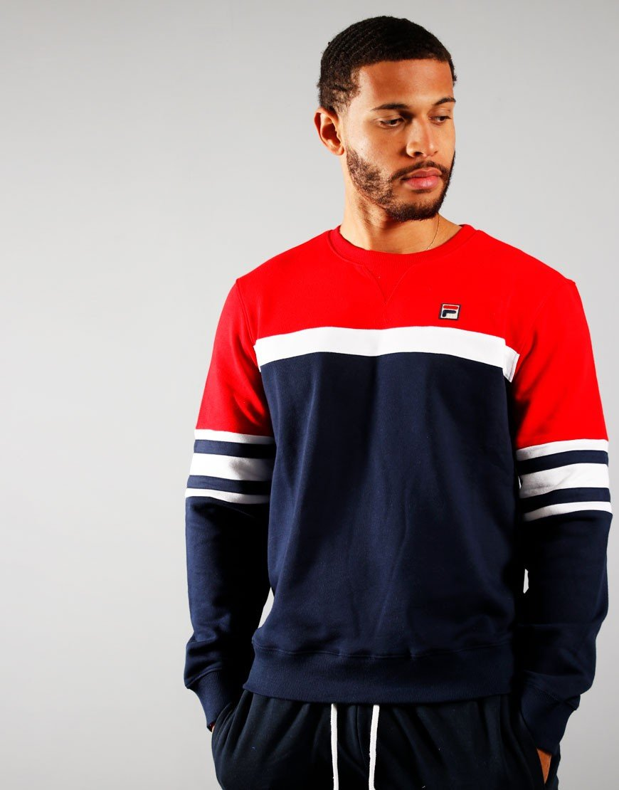 Fila Verus Sweatshirt Peacoat/Red/White