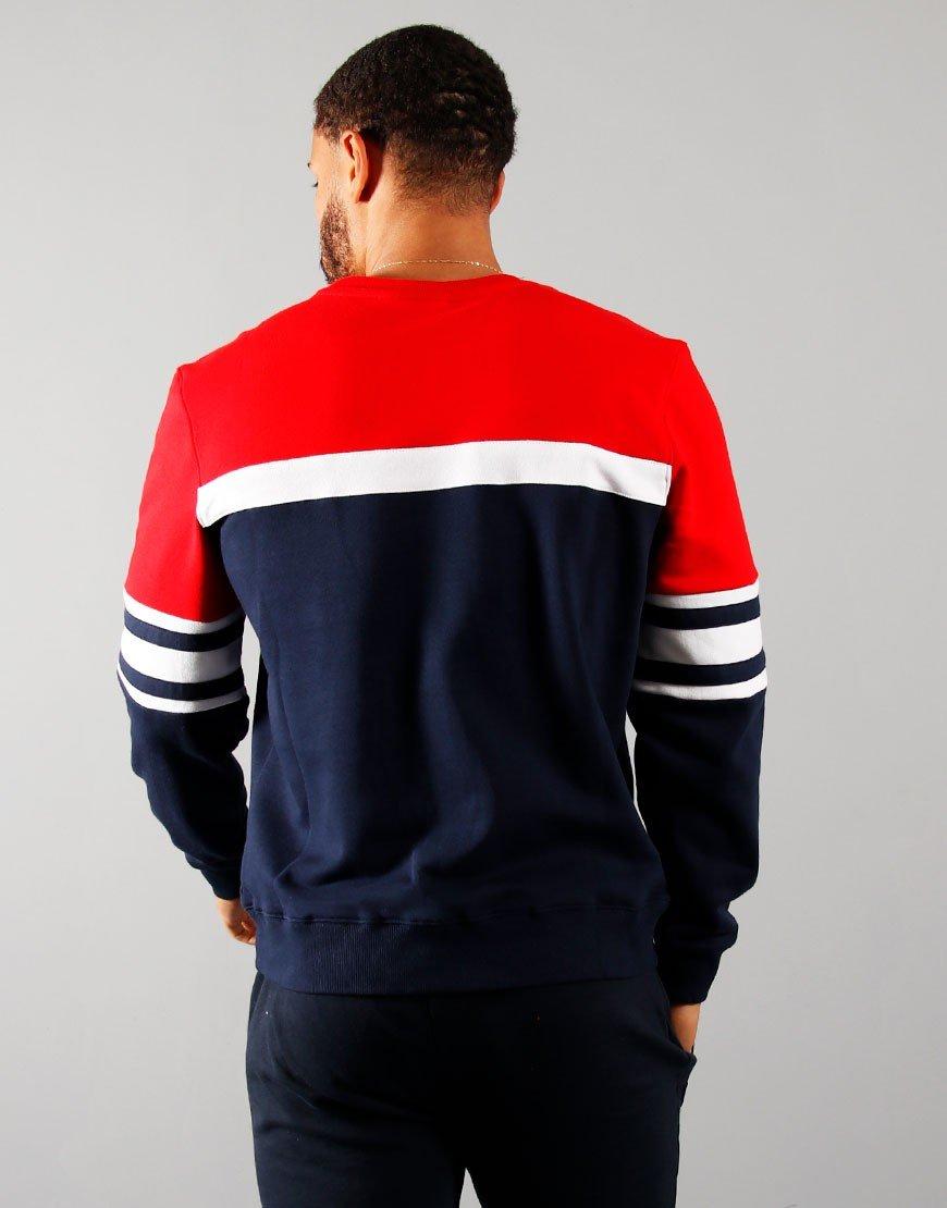 FILA Vintage Verus Sweatshirt Peacoat/Red/White