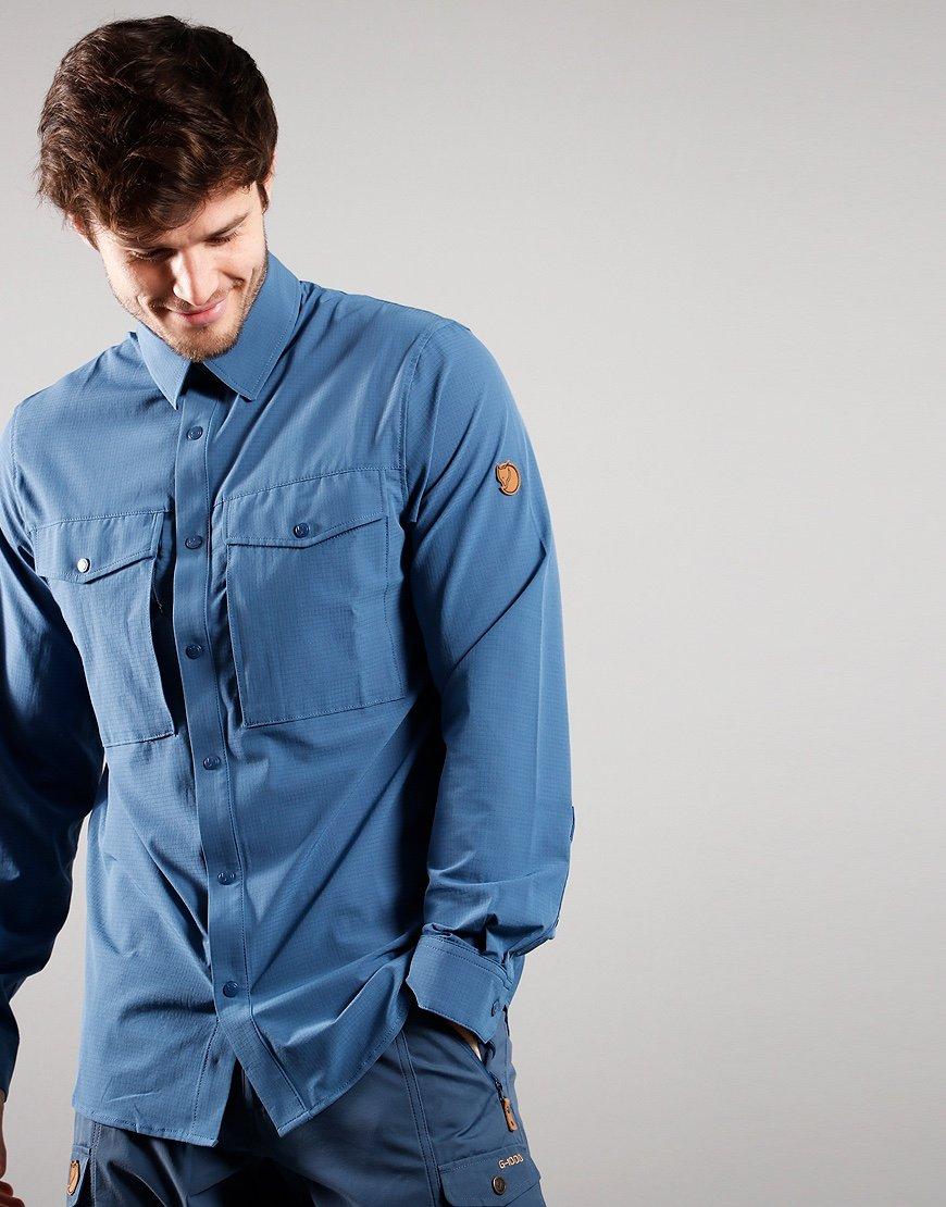 Fjällräven Abisko Trekking Shirt Uncle Blue