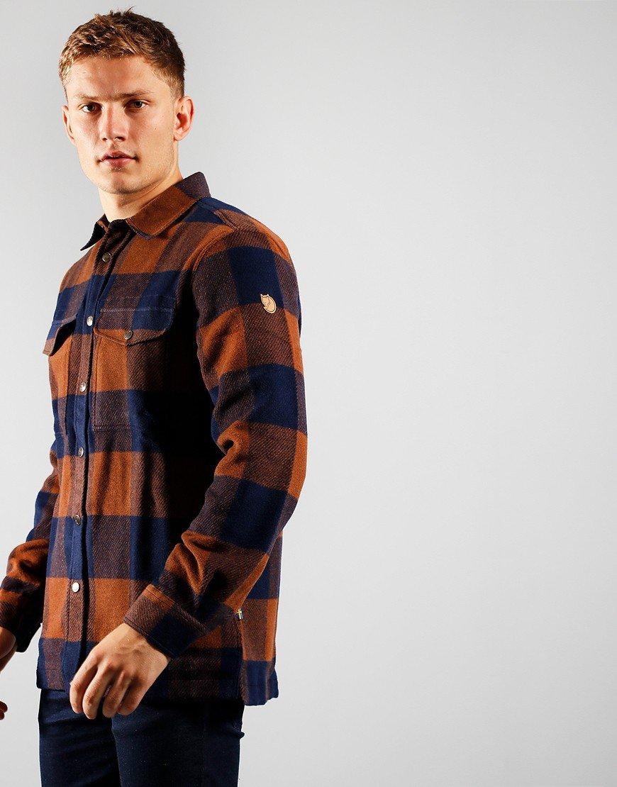 Fjällräven Canada Shirt Chestnut / Dark Navy