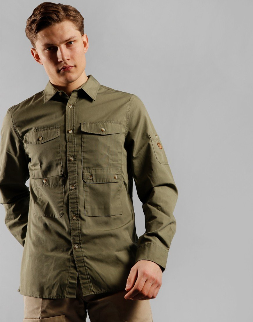 Fjällräven Ovik Shade Pocket Shirt Green