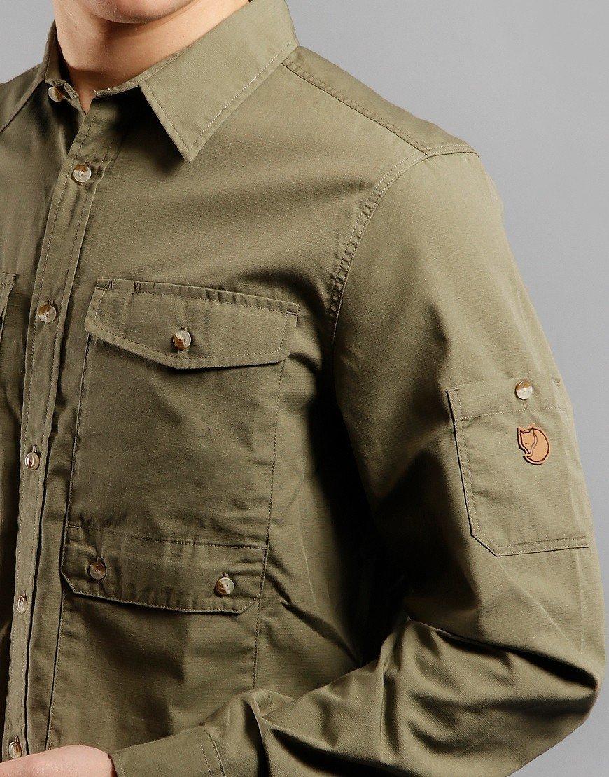 Fjällräven Ovik Shade Pocket Shirt Green