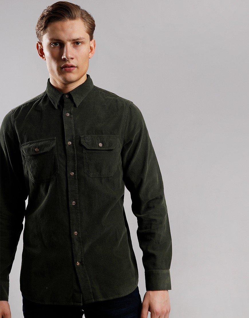 Fjällräven Övik Cord Long Sleeve Shirt Deep Forest