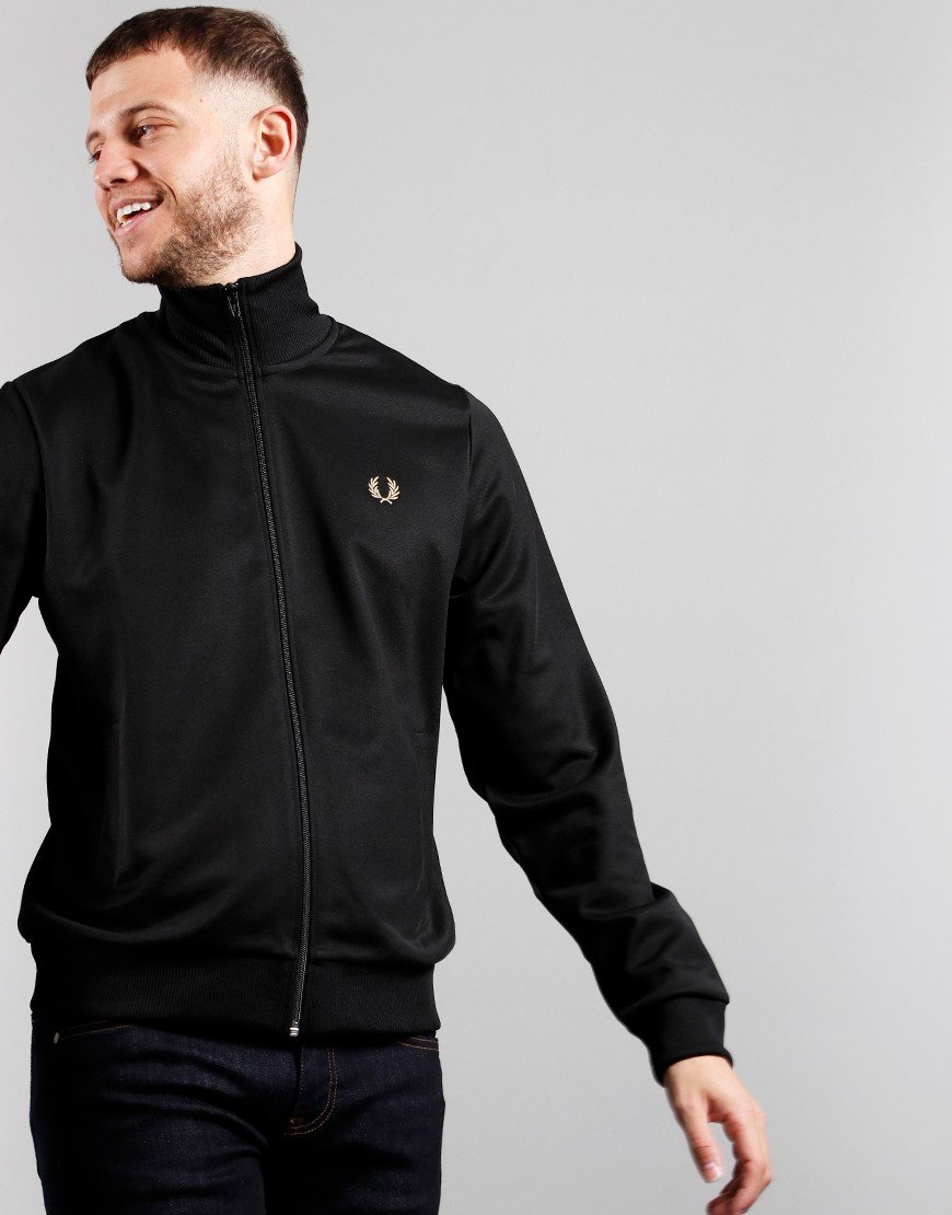 Fred Perry Arch Branded Track Jacket Black