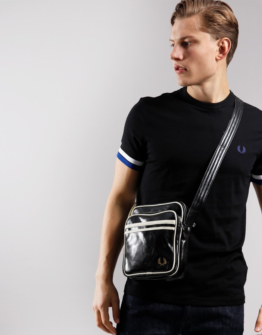 Fred Perry Classic Side Bag Black/Ecru
