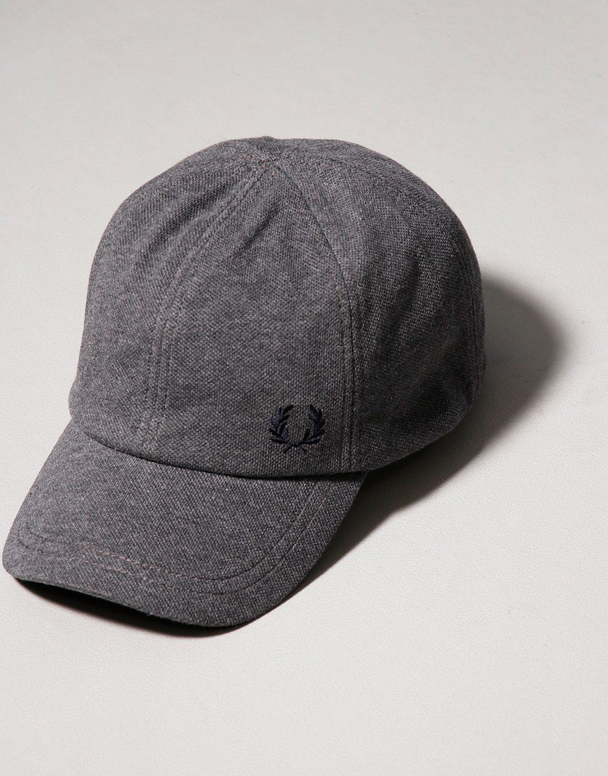 Fred Perry Pique Cap Graphite Marl