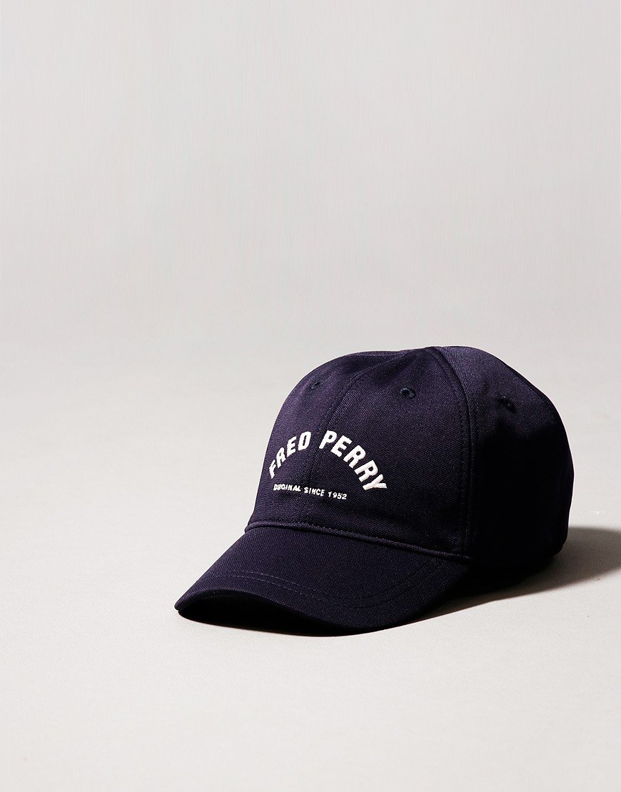 Fred Perry Arch Branded Cap Carbon Blue