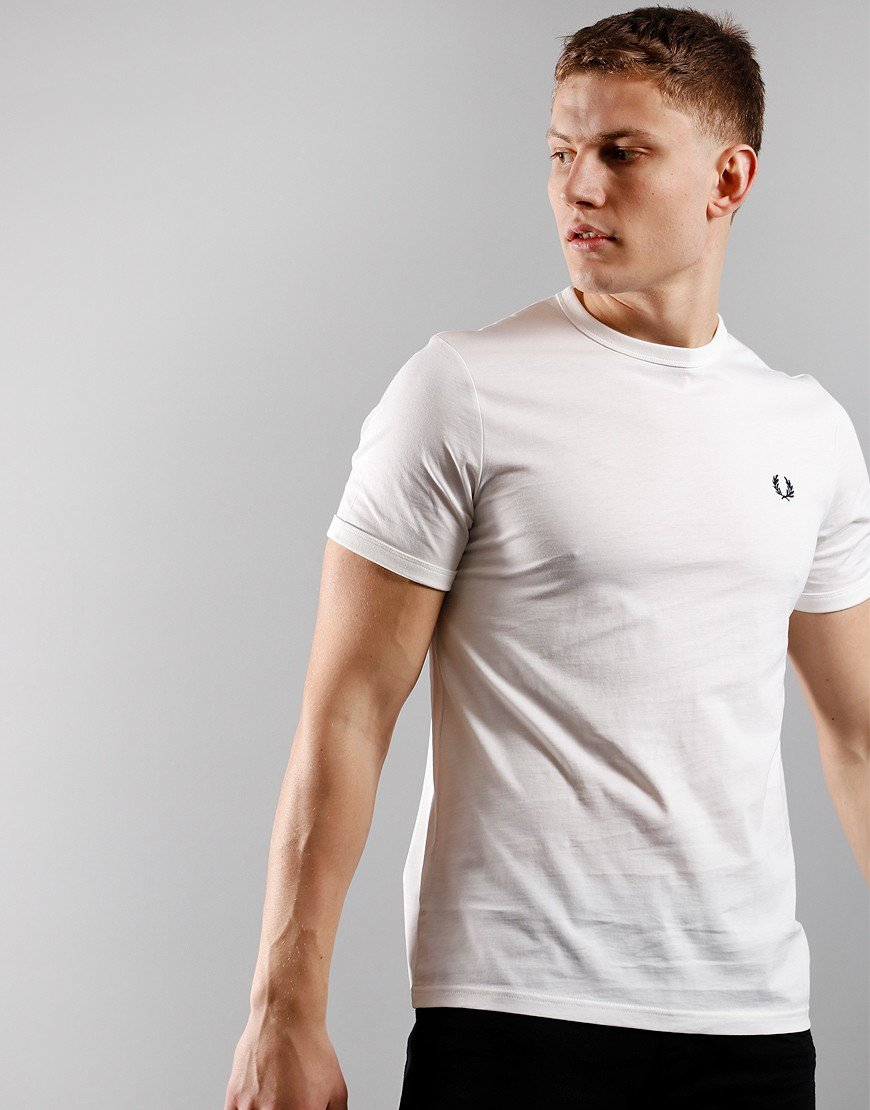 Fred Perry Arch Branded T-Shirt Snow White