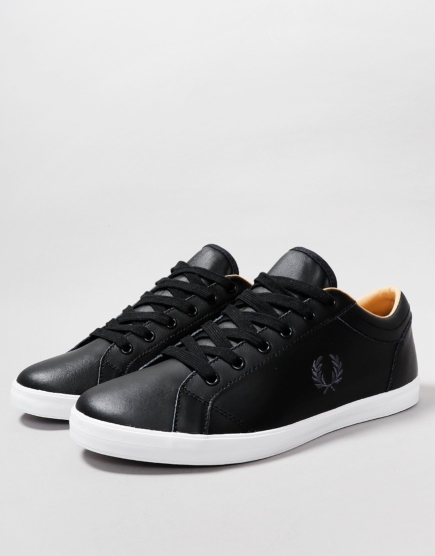 Fred Perry B721 Baseline Leather Plimsoll Black