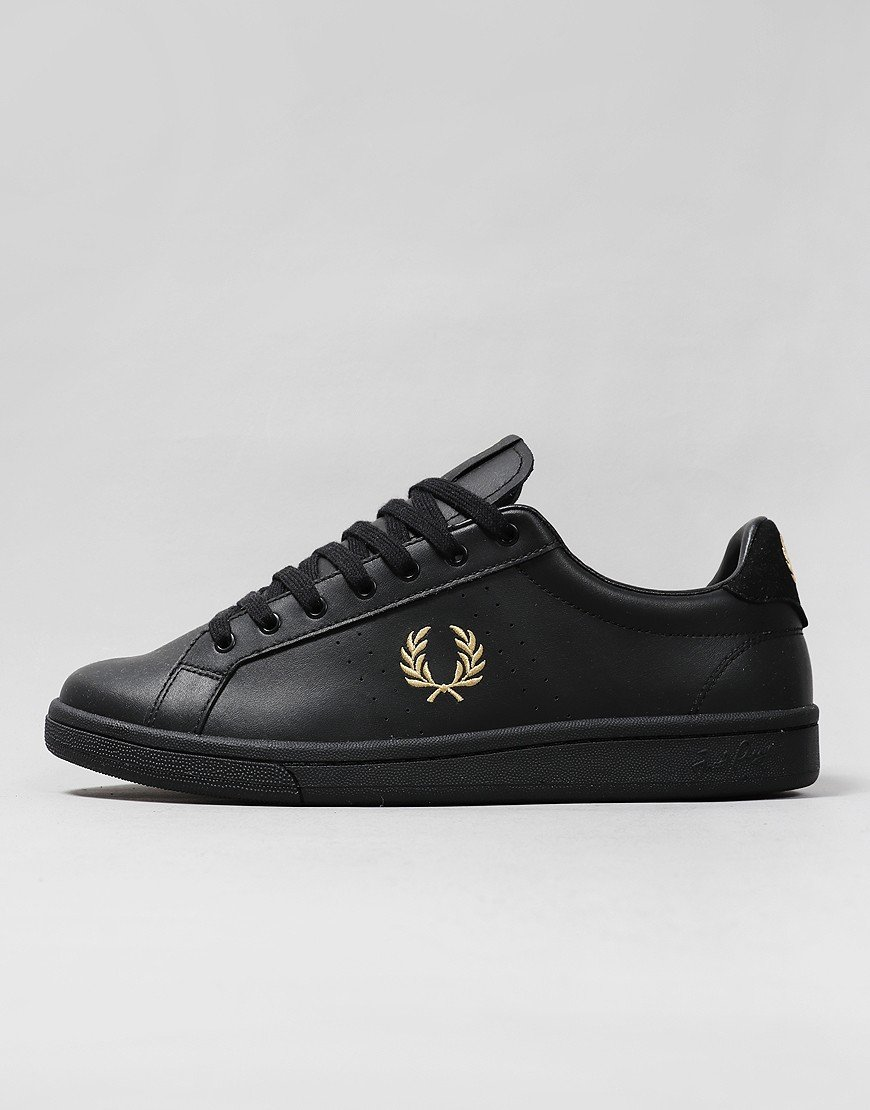 Fred Perry B721 Leather Plimsoll Black