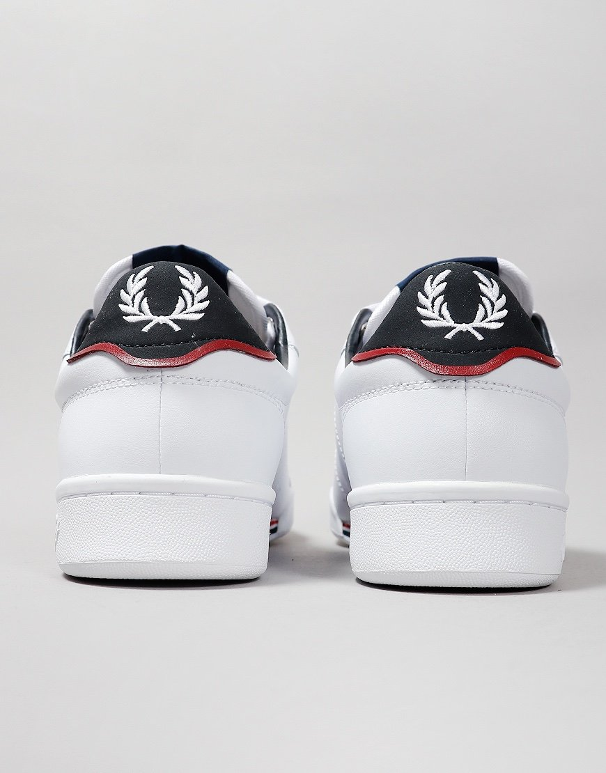 Fred Perry B722 Leather Plimsoll White