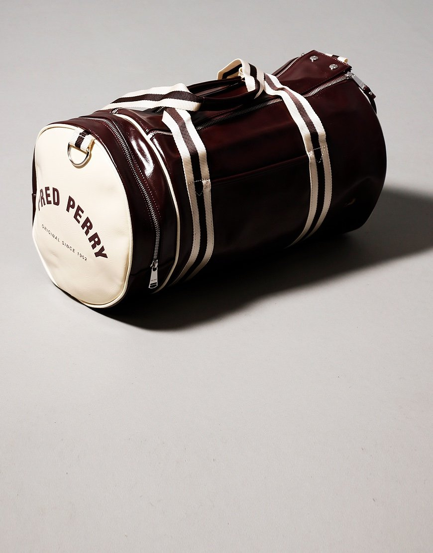 Fred Perry Classic Barrel Bag Port/Ecru