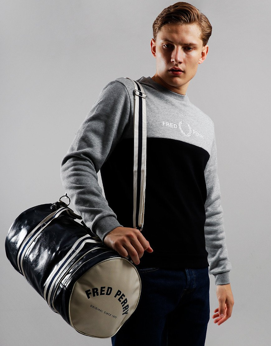 Fred Perry Classic Barrel Bag Navy/Ecru