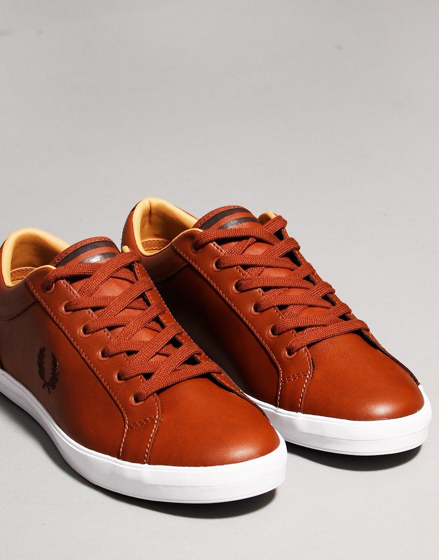 Fred Perry Baseline Leather Plimsoll Tan
