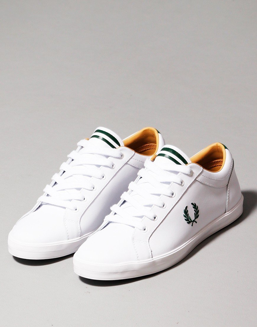 Fred Perry Baseline Leather Plimsoll White