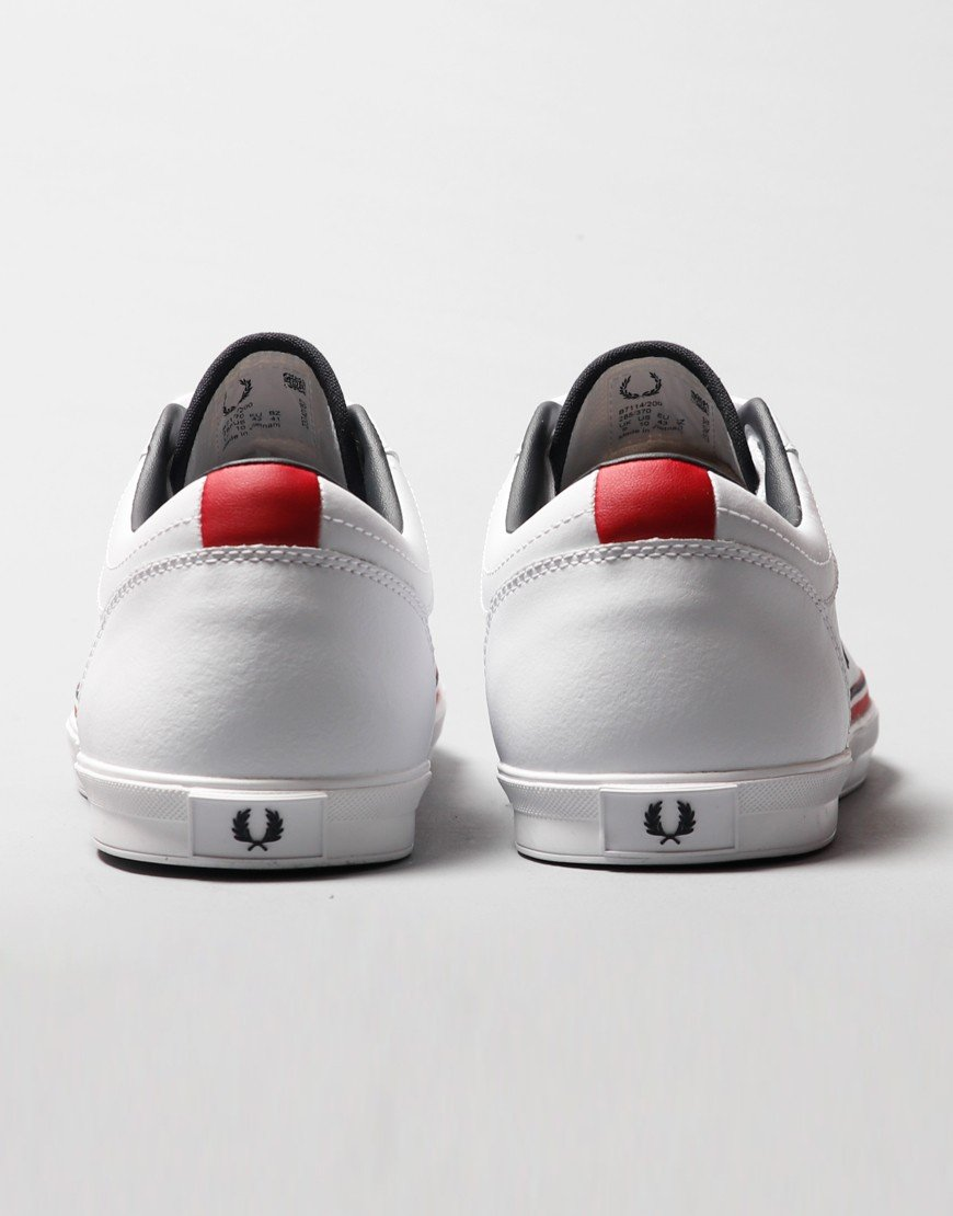 Fred Perry Baseline Perforated Plimsoll White