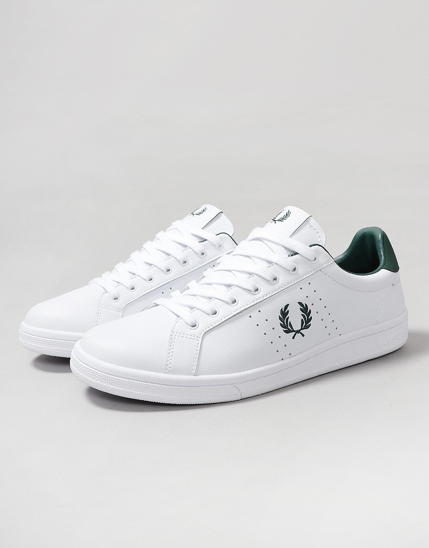 Fred Perry B721 Leather Plimsoll White