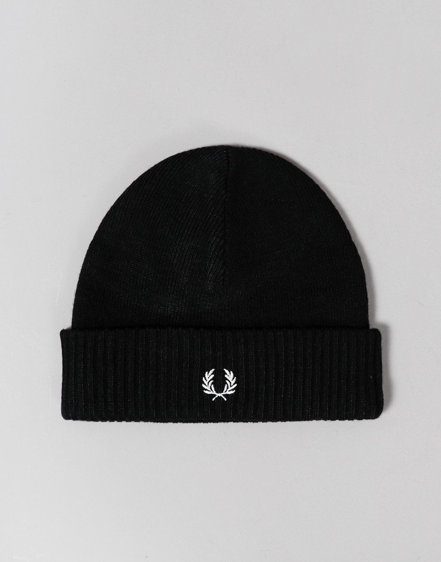 Fred Perry Roll Up Beanie Black