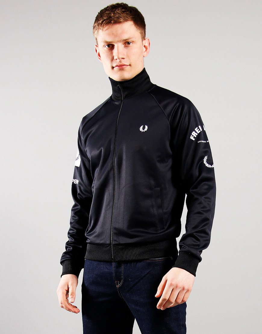Fred Perry Bold Branding Track Top Black