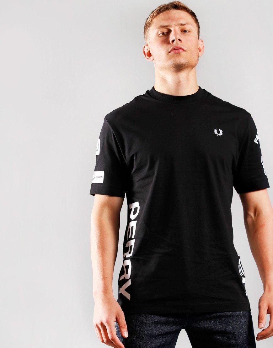 Fred Perry Bold Branding T-Shirt Black