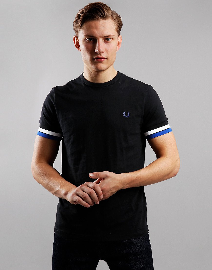 Fred Perry Bold Tipped T-Shirt Black