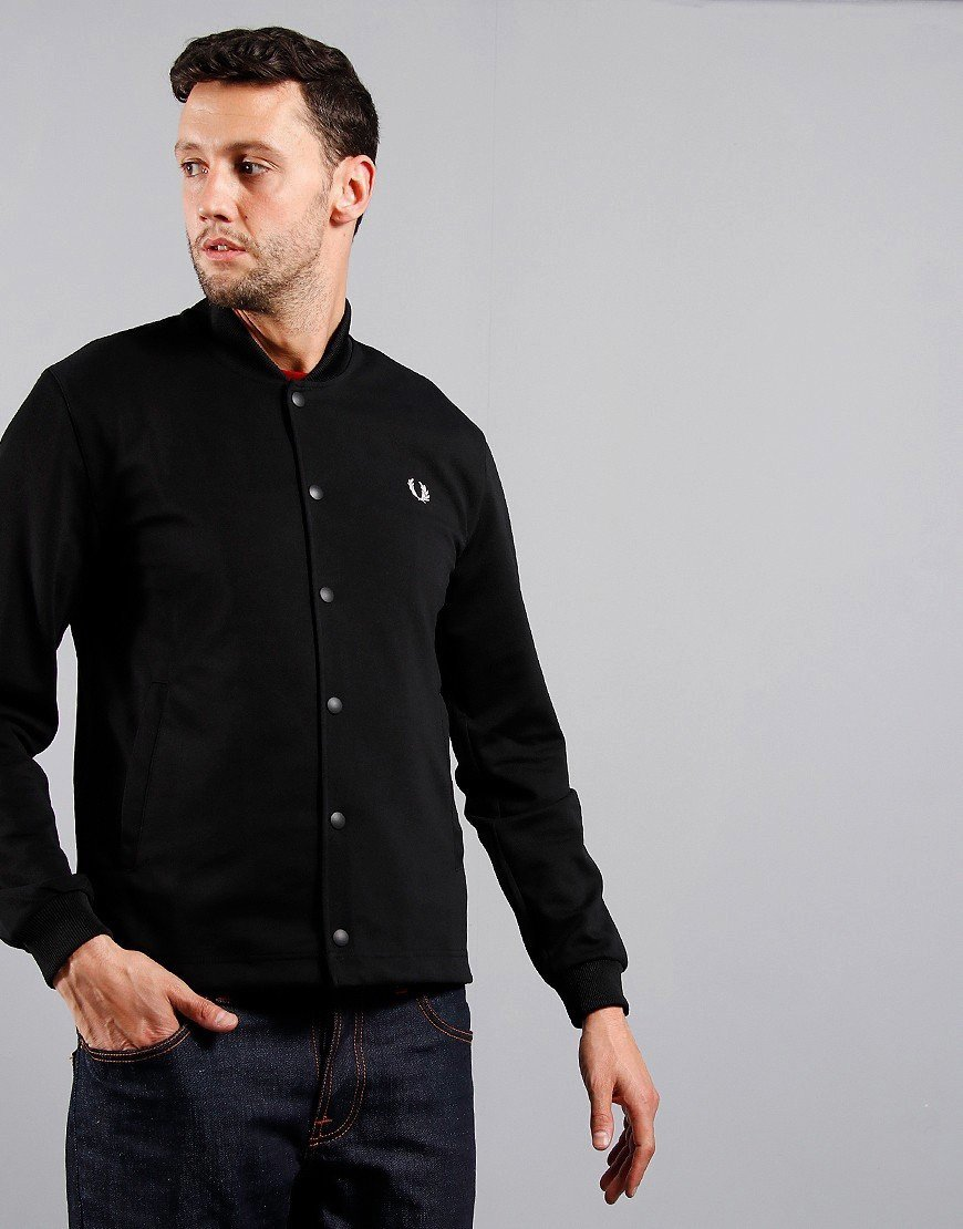 Fred Perry Bomber Track Jacket Black