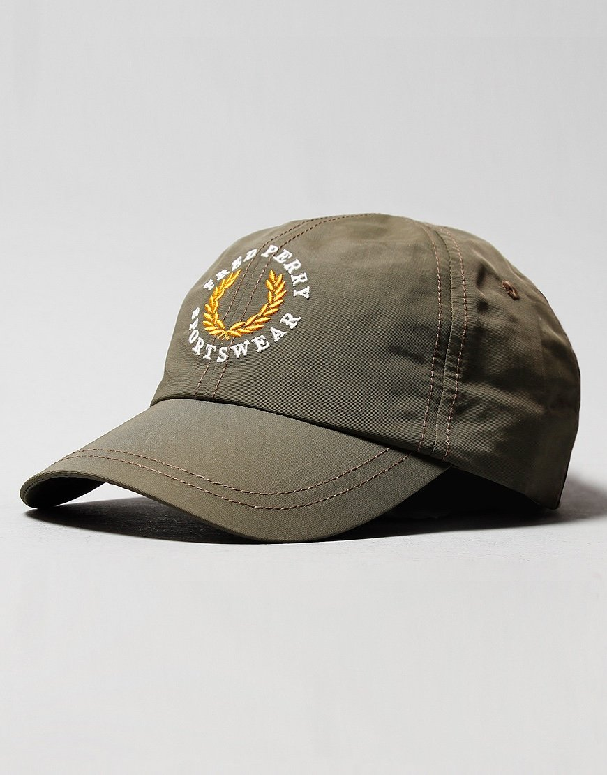 Fred Perry Branded Cap Military Green