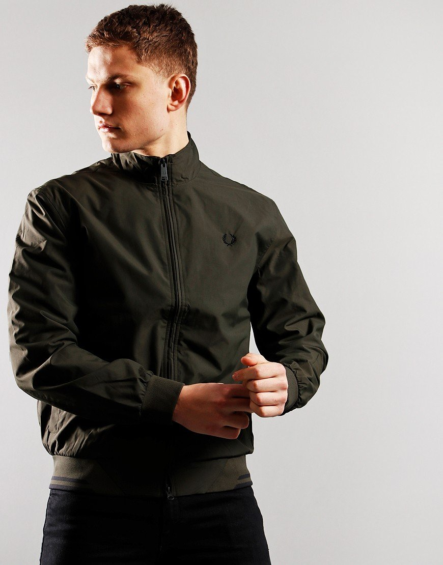 Fred Perry Brentham Jacket Hunting Green