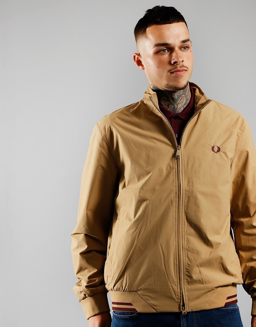 Fred Perry Brentham Jacket Warm Stone