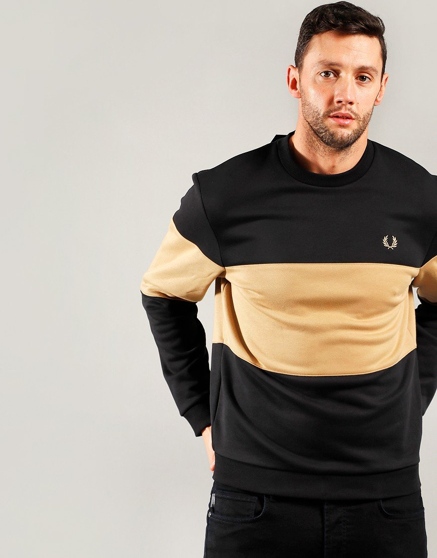 Fred Perry Colour Block Sweat Black