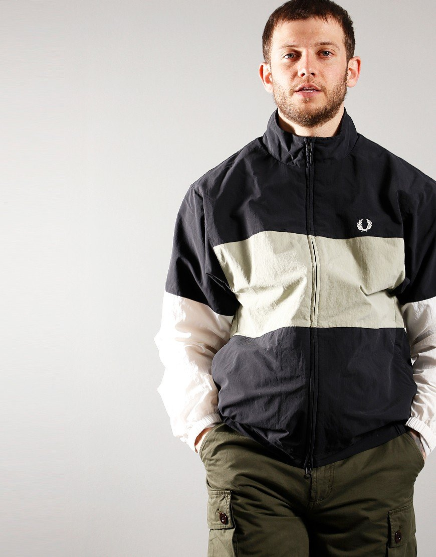 Fred Perry Colour Block Shell Jacket Black