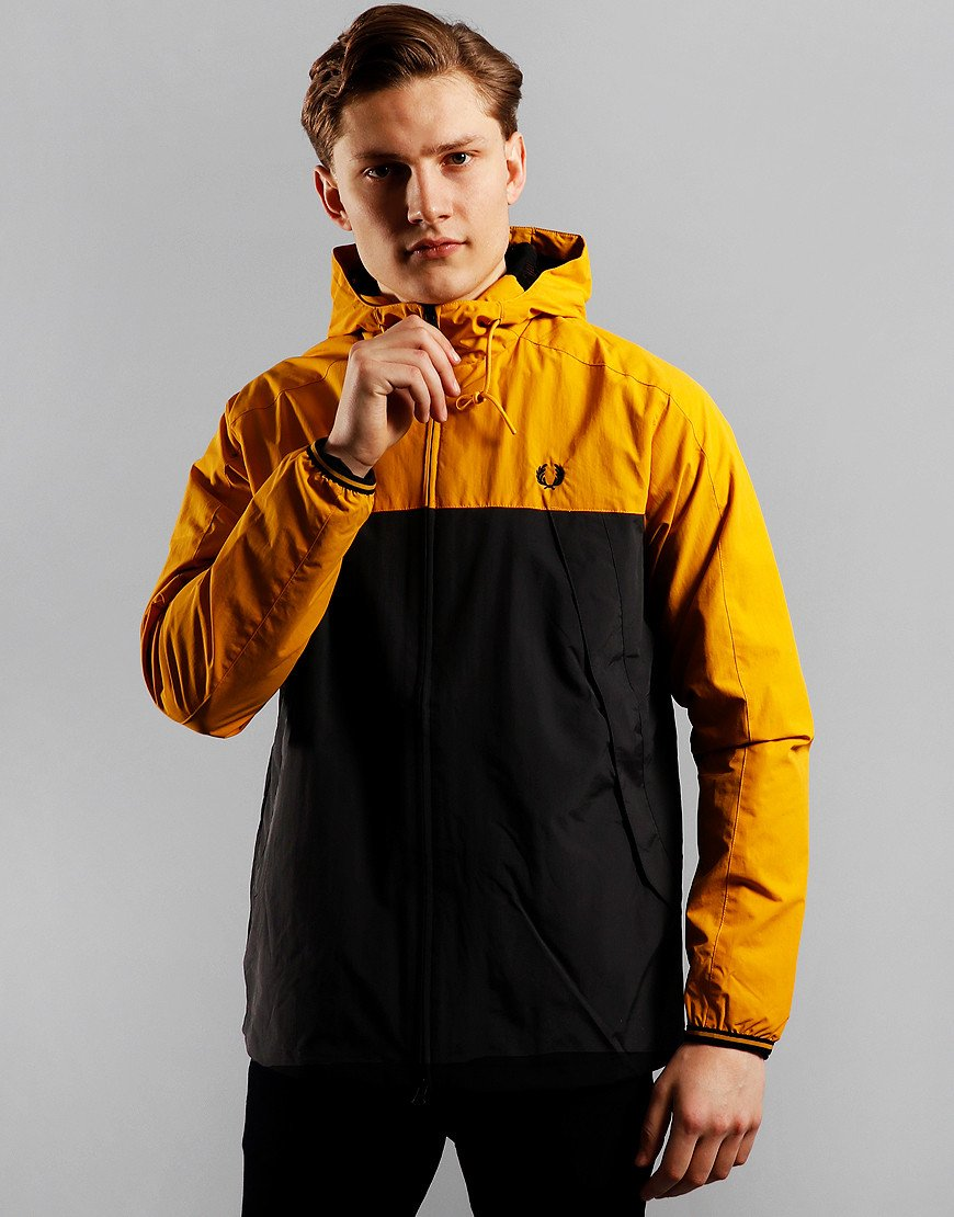 Fred Perry Colour Block Panel Jacket Gold