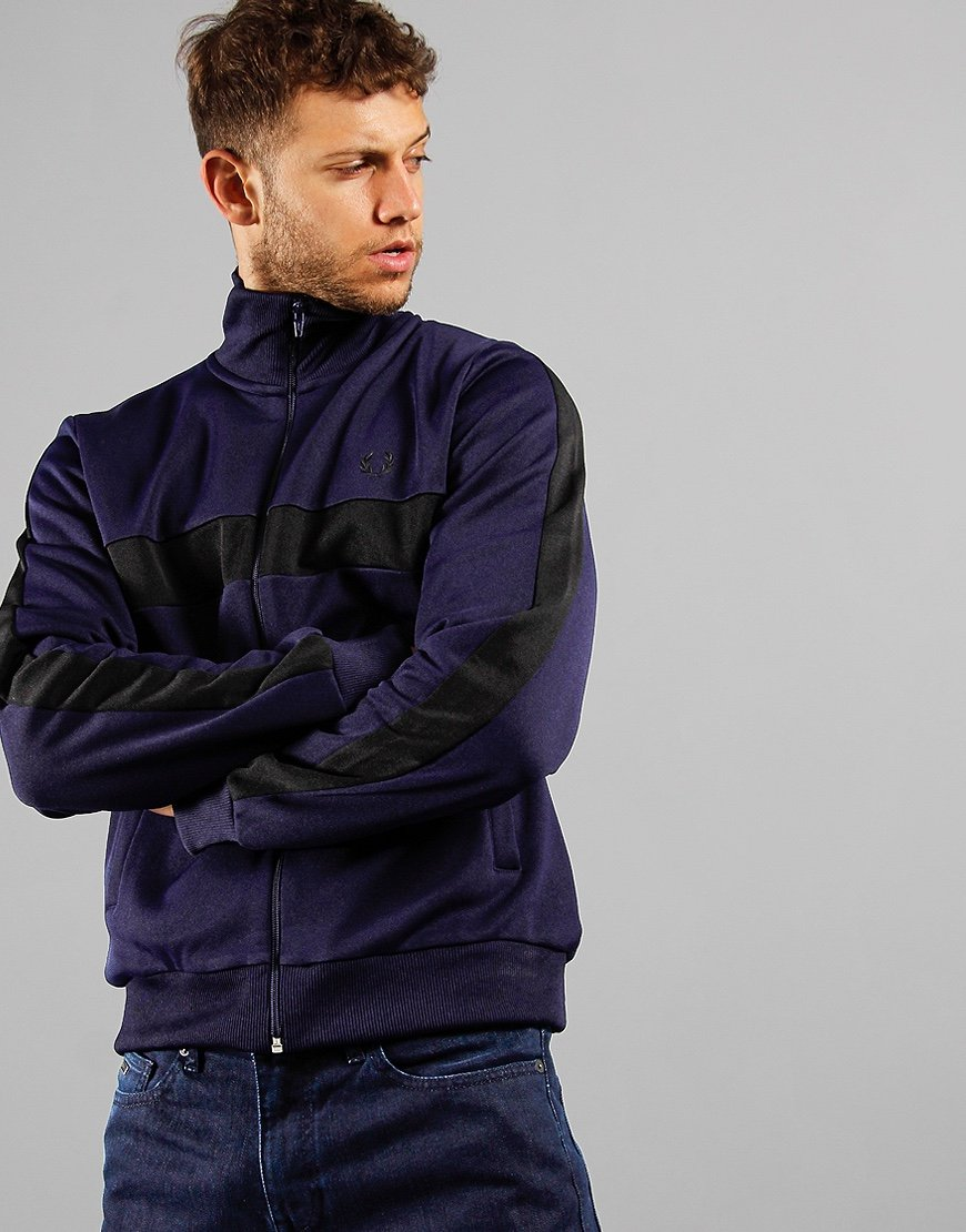 Fred Perry Contrast Panel Track Top Carbon Blue
