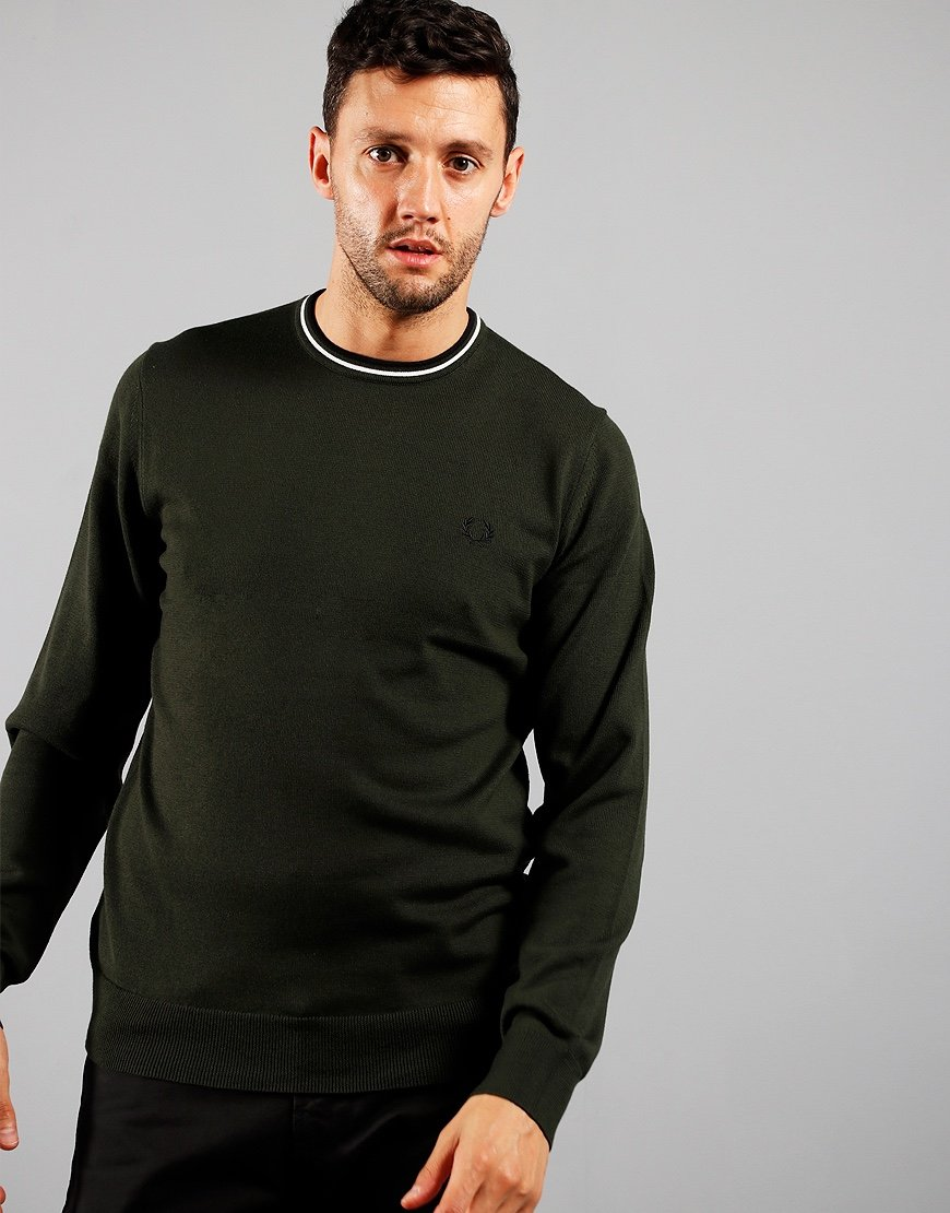 Fred Perry Crew Neck Jumper Hunter Green