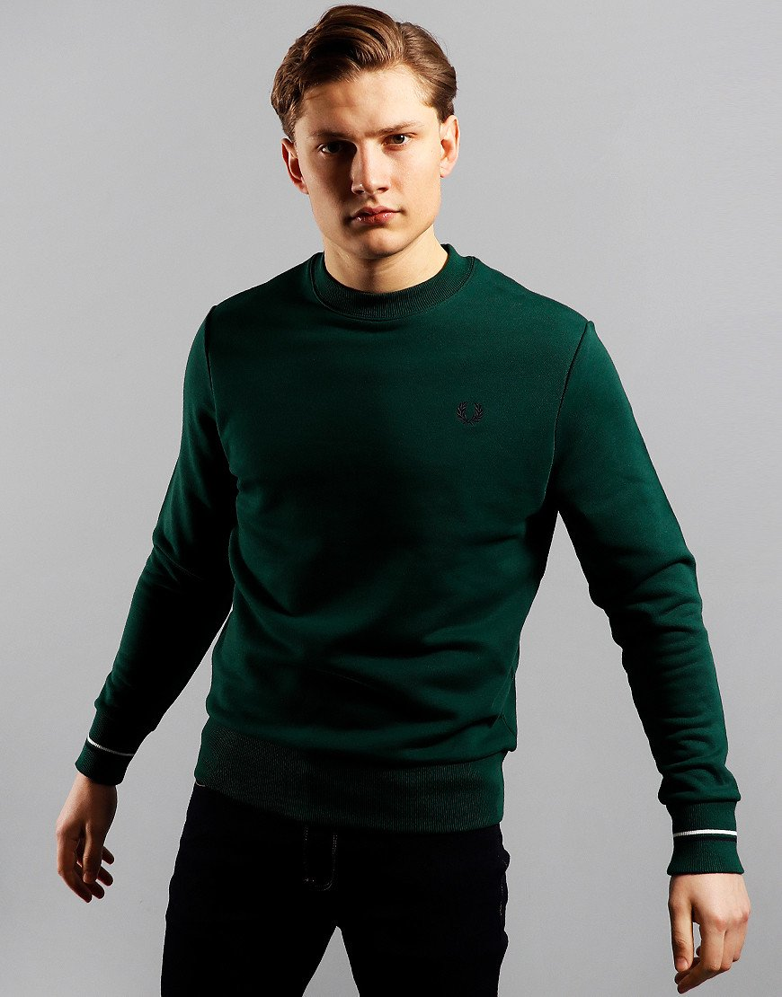 Fred Perry Crew Neck Sweat Ivy