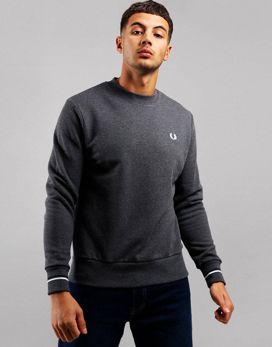 Fred Perry Crew Sweat Graphite Marl