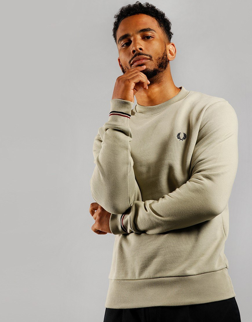 Fred Perry Crew Sweat Light Sage