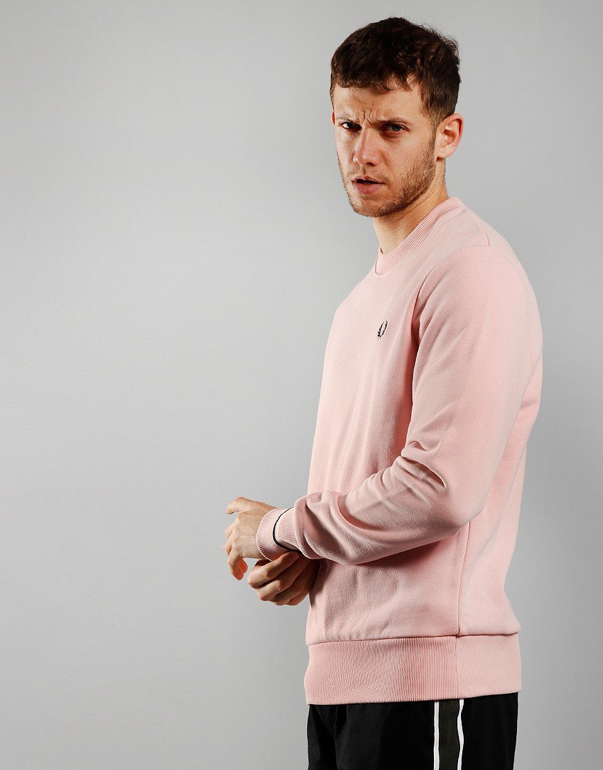 Fred Perry Crew Sweat Silver Pink