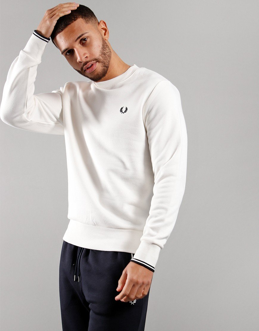 Fred Perry Crew Neck Sweat Snow White