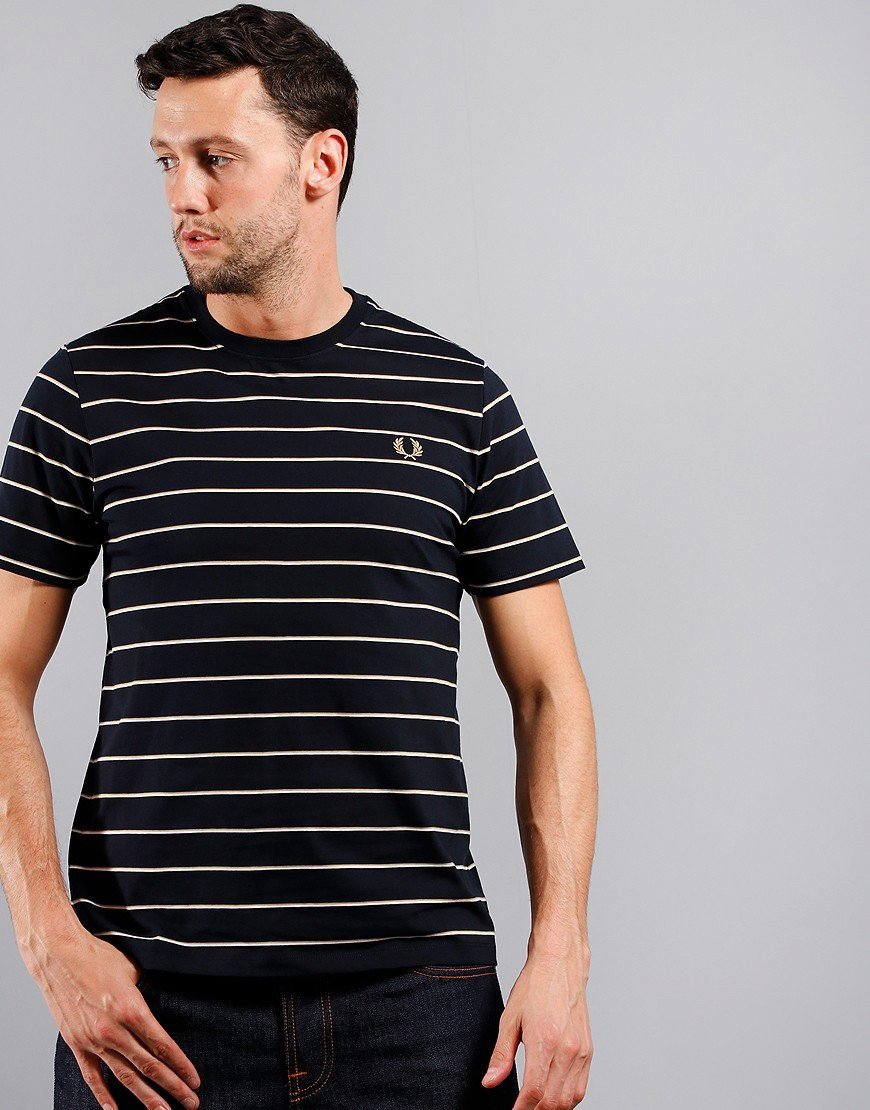 Fred Perry Fine Stripe T-Shirt Navy