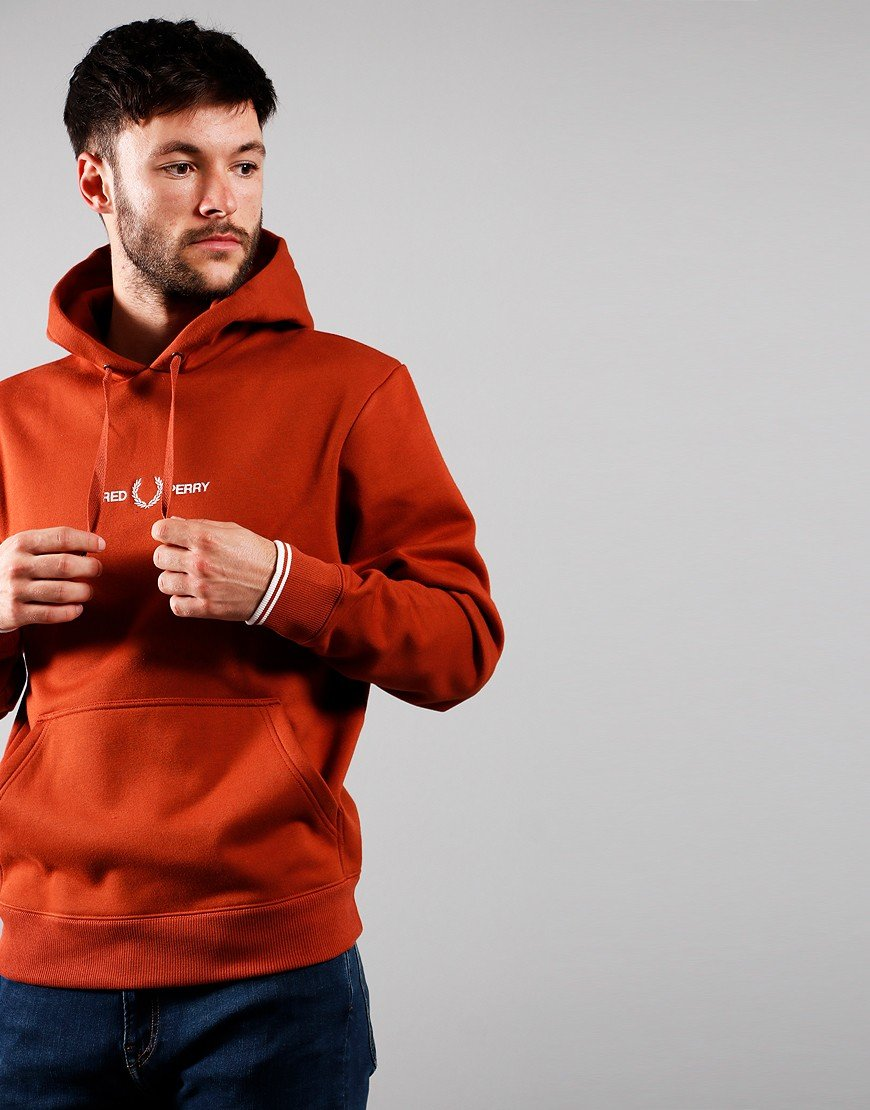 Fred Perry Graphic Hoodie Paprika