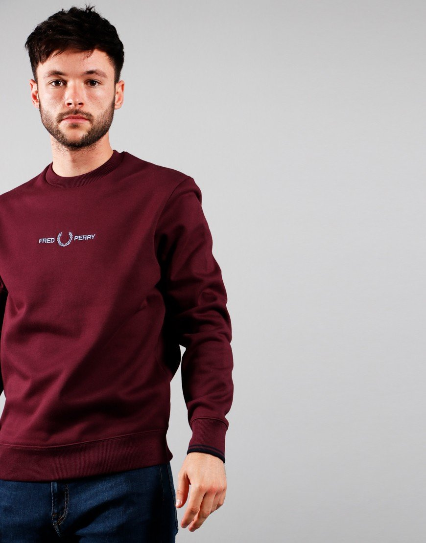 Fred Perry Graphic Sweat Mahogany