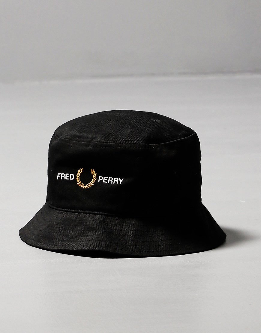 Fred Perry Graphic Bucket Hat Black