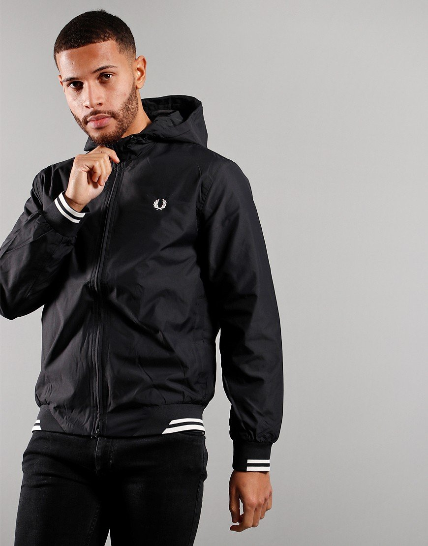 Fred Perry Hooded Brentham Jacket Black