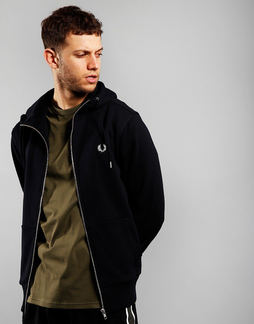 Fred Perry Hooded Zip Sweat Navy