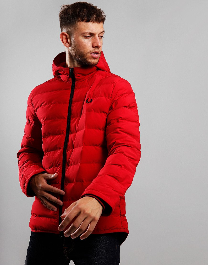 Fred Perry Insulated Hooded Jacket Siren