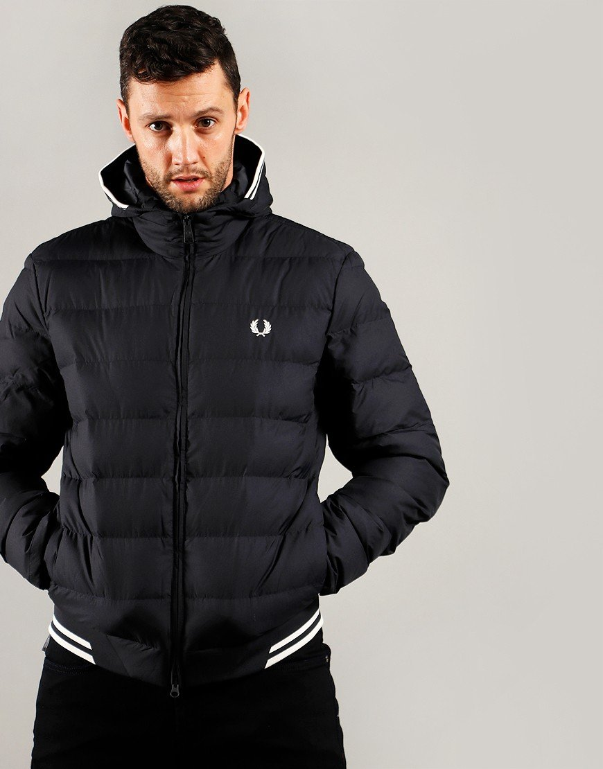 Fred Perry Hooded Insulated Jacket Navy