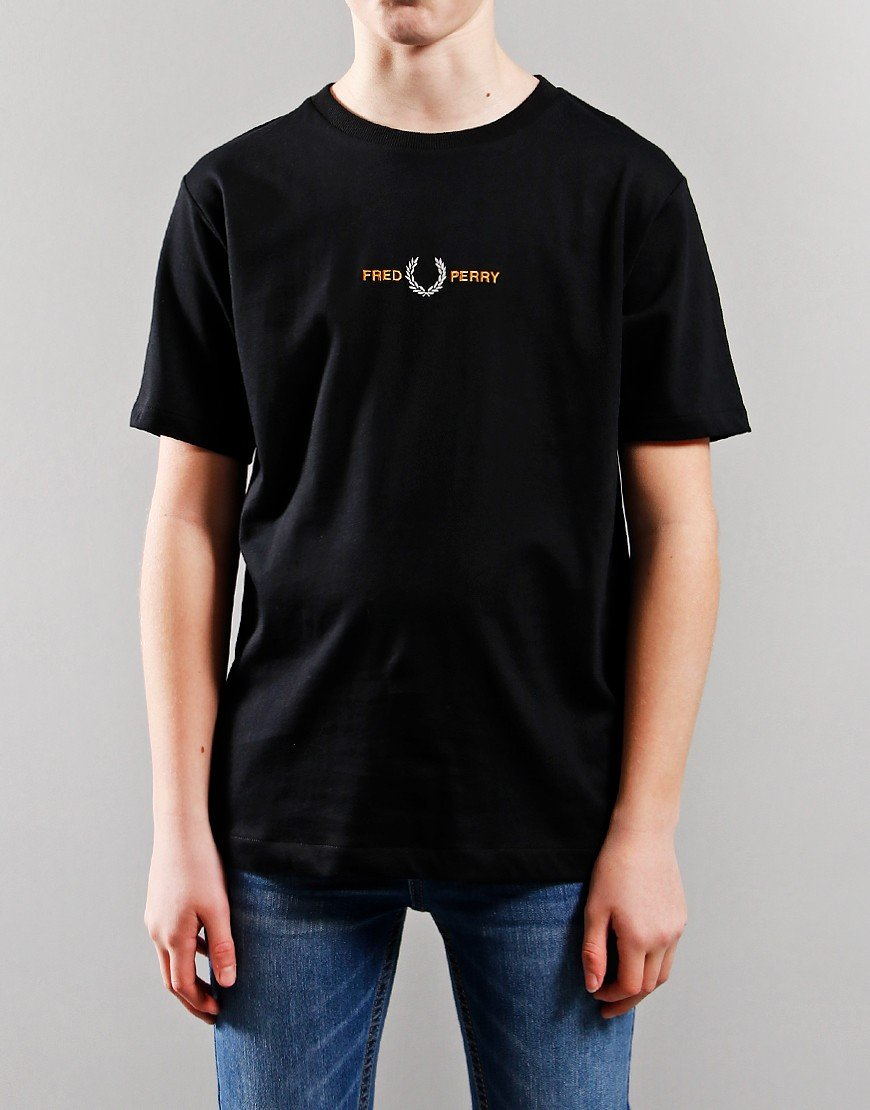 Fred Perry Kids Laurel T-Shirt Black